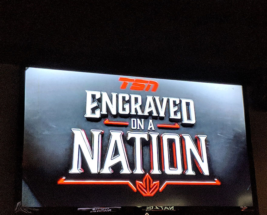 Engraved on a Nation TSN documentary still image