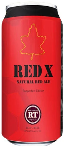Red X Natural Red Ale can image