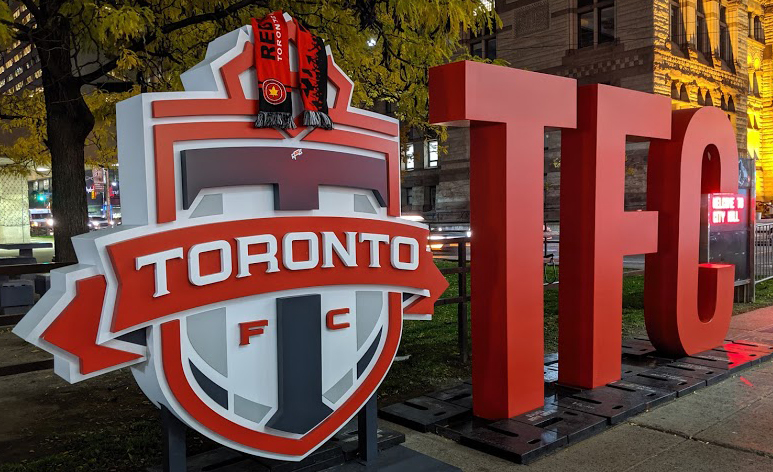 Toronto FC sign outside Toronto City Hall, 2019 image