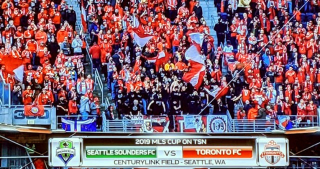 Toronto FC Supporters at MLS Cup Final in Seattle 2019